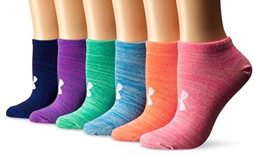 Under Armour Damen Uaw Essential Twist NO Show Socken, Mehrfarbig (Assorted), M (Socken Damen Heatgear)