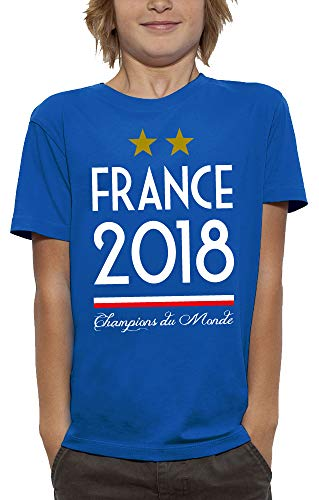 PIXEL EVOLUTION T-Shirt France 2018 Enfant - Taille 3/4 Ans - Bleu Royal