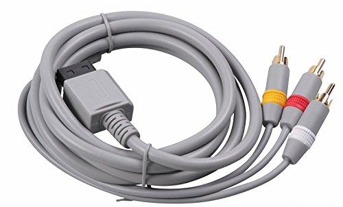 booEy AV Kabel 3 Chinch Scart Kabel für Nintendo Wii Vergoldete Kontakte (Vergoldete Konsole)