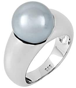 Burgmeister Jewelry Damen-Ring Perlen 925 Sterling Silber Gr. 58 (18.5) JHE1101-18