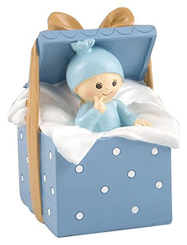 Mopec Y343.3 - Baby Piggy Bank Gift Box, 9 x 14,5 x 9 cm, Blue Color