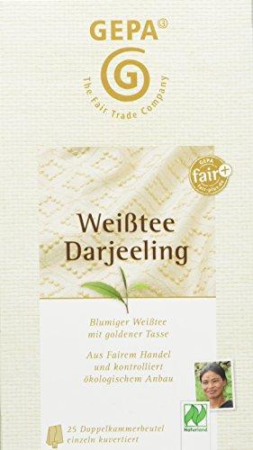 GEPA Weißtee Darjeeling, 5er Pack (5 x 50 g) - Bio