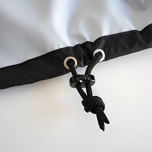 VASNER Appino BEATZZ Schwarz Black Infrarotstrahler Terrassenstrahler dimmbar 2000 Watt mit Bluetooth, LED Backlight Licht, Musik-Lautsprecher Außenbereich mit Abdeckhaube AirCape M - 7