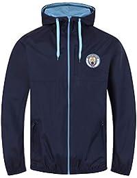 Manchester City FC - Chaqueta Cortavientos Oficial - para Hombre -  Impermeable 1abb5af71992b