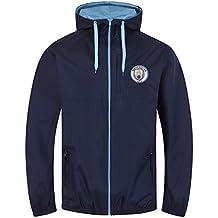 Manchester City FC - Chaqueta Cortavientos Oficial - para Hombre -  Impermeable efe5da6eb37f5