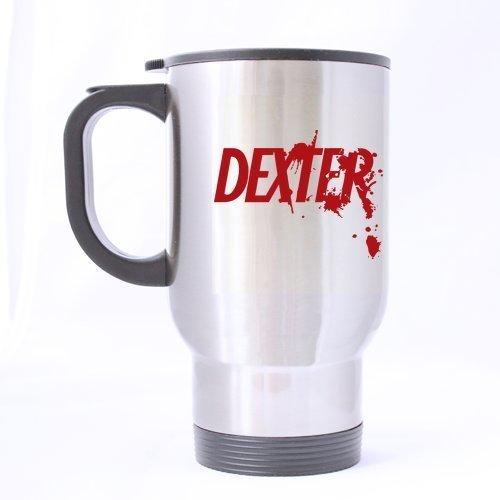 Bloody police DEXTER Custom personnalisé Mug de voyage-Bouteille de sport-Argent-Tasses à café bureau Home 14 OZ 2 côtés imprimés tasses