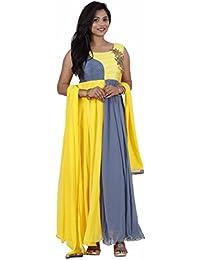 Manmandir Women's Anarkali Salwar Suit