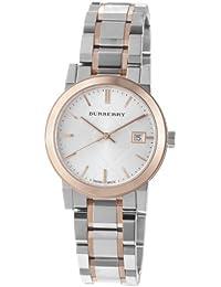 Burberry BU9105 - Reloj de mujer (correa de acero inoxidable de 2 tonos)