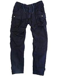 Logan Outdoor Chino Hosen mit großen Cargotaschen in blau, braun und schwarz