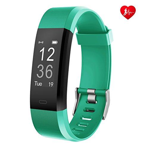 Arbily Fitness Armband mit Pulsmesser Aktivitätstracker Wasserdicht Schrittzähler Armbanduhr Fitness Uhr mit Schlafmonitor Schrittzähler Kalorienzähler für Kinder Damen Herrn