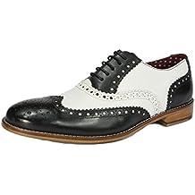 London Brogue-Schnürhalbschuhe Herren Lederschnürer mit Wingtip Formell  Abendkleidung Brogue-Schuhe aa1a20940b