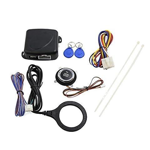 sourcingmap® Car Engine Push Start Button RFID Engine Lock Ignition