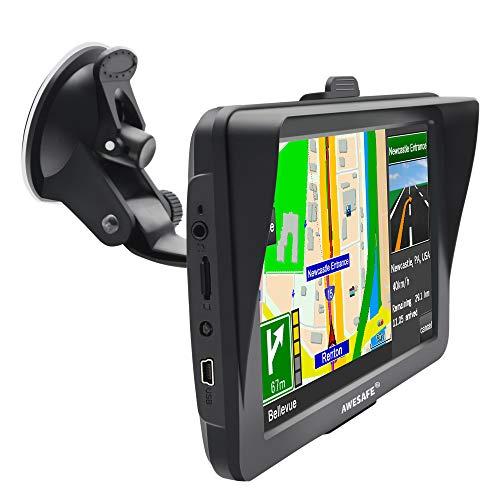 AWESAFE GPS para Coche con Pantalla Táctil HD de 7 Pulgadas Reproductor...