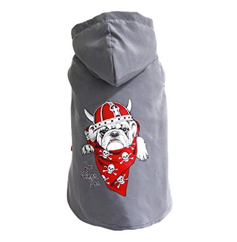 Übergangs-grau Streifen (Saino Weiches Flannel Kleidung Pet Wintermäntel Streifen Outdoor Sport Verkleidungen Mode Deko Kostüme)