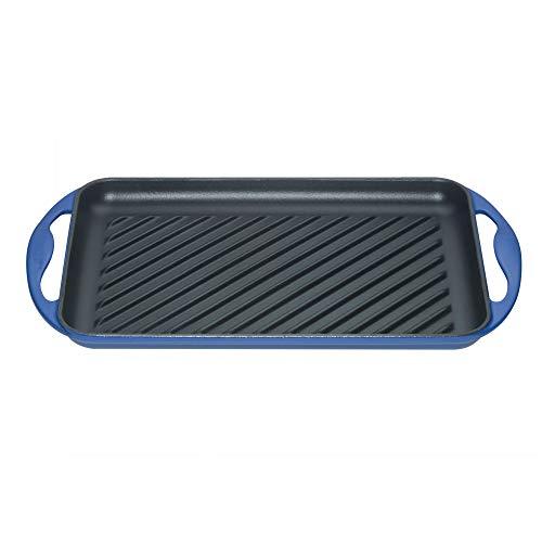 Le Creuset grill Sensation rectangulaire en fonte émaillée, bleu marseille