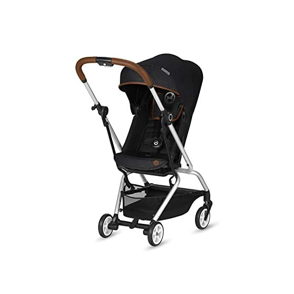 CYBEX Gold Eezy S Twist Compact Pushchair, 360° Rotatable Seat Unit, Ultra-Compact, From Birth to 17 kg (approx. 4 years), Lavastone Black  Sturdy, High-quality Compact Pushchair for newborns up to approx. 17 kg (approx. 4 years) with unique rotatable seat unit - Including rain cover for optimum use in all weather conditions Quick and easy change of direction with 360° rotatable seat unit, Comfortable sitting position thanks to stepless adjustable reclining backrest with lie-flat position, Puncture proof tyres and all-terrain wheel suspension Simple folding with one-hand folding mechanism for compact travel size (LxWxH: 26 x 45 x 56 cm), Extremely manoeuvrable due to narrow wheelbase, Can also be used as 3-in-1 travel system with separately available CYBEX and gb infant carriers and the baby cocoon S (sold separately) 1