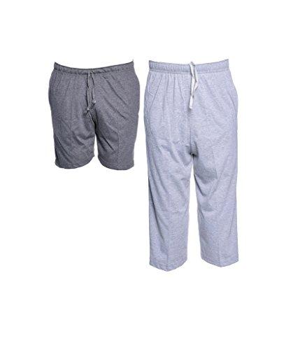 Vimal Cotton Blended Multicolor Shorts And Capri Men (pack Of 2)