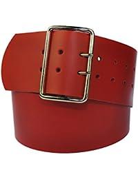 8cm Breit Echt Leder Guertel mit 4 Eckiger Roll Schnalle Wählbar aus 29 Farben und 12 Längen