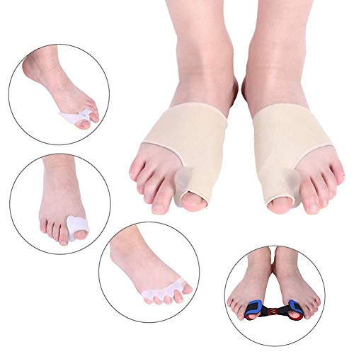 Hallux Valgus Bunion Corrector, 9 pochettes anti-douleur Bunion Protector manches pour un bon alignement des orteils