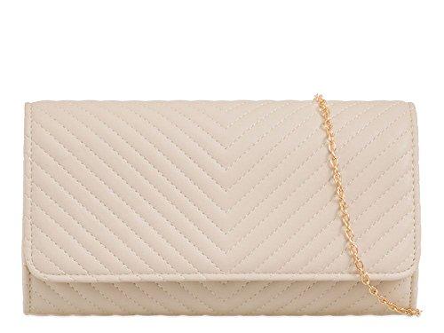 Hautefordiva , Pochette pour femme écarlate moyen beige