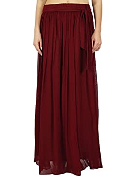 Bimba mujeres falda maxi larga Georgette tulipán estilo Boho Bottoms