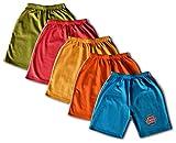 #7: Elk Boy's Multicolour Cotton Shorts Trouser 5 Pieces Combo