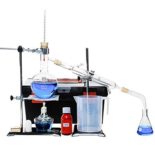 100ml-2000ml Labor ätherisches Öle Destille Rein Wasser Gerät Glaswaren Satz