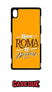 Caseque From Roma to Berlin Back Shell Case Cover for Sony Xperia Z3