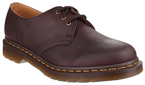 Unisex Adults Dr Martens 1461 Classic Vintage Lace Up Retro Leather Shoes - Brown - 5