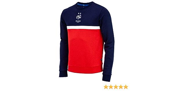 Herrengr/ö/ße offizielle Kollektion Equipe de France de Football Frankreich Fu/ßballnationalmannschaft Sweatshirt FFF