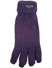Ladies Knitted Gloves Thinsulate Thermal Acrylic Available in 4 Colours Winter Warm