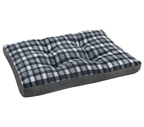 Woltu ht2087gr1 cuscino per cani divano gatti lettino per animali domestici morbido lavabile nero+grigio 80x60x10cm
