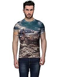 Wear Your Mind Multi-Coloured Cotton T-Shirt For Men CST211