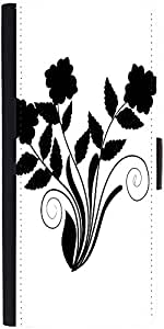 Snoogg Abstract Silhouette Of Decor Floral Elementsdesigner Protective Flip C...
