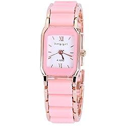 Mode Einfach Edelstahlarmband Quarz Armbanduhr Für Damen