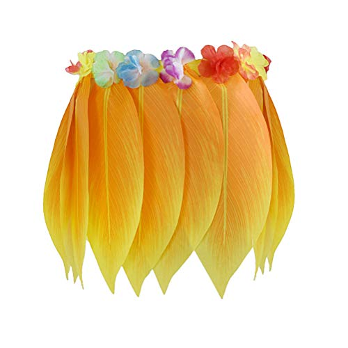 Amosfun Hawaiian Tropical Hula Grass Rock Hawaiian Party kostüm für Strand Luau Party Supplies Erwachsene Plus Größe 100 cm 40 Zoll ()