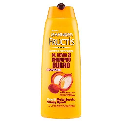 Garnier Fructis Oil Repair 3 Shampoo Burro Fortificante Capelli Molto Secchi, Crespi, Spenti 250 ml