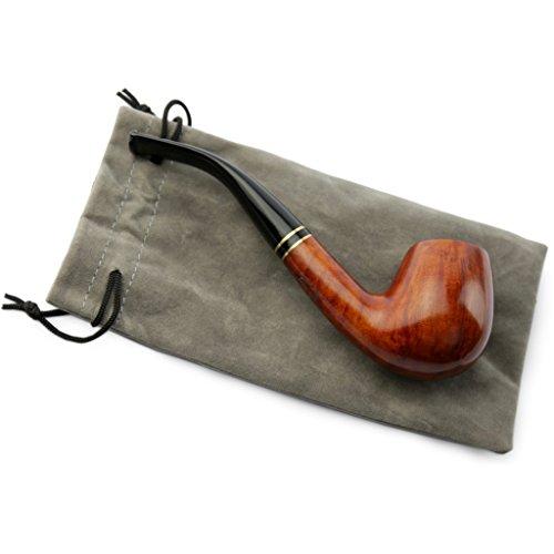 A.P. Donovan - Tabak-Pfeife - Handarbeit (Farbton kann variieren) - mit Beutel - Mundstück aus Kunststoff - für 9mm Filter - aus Bruyereholz - Huracán (Pfeife Feuerzeug Und Tabak)