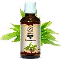 Hanföl 100% Reines Naturreines Kaltgepresst Hanfsamen Öl - 50ml Glasflasche - Hanf Öl - Cannabis Sativa Seed Oil... preisvergleich bei billige-tabletten.eu