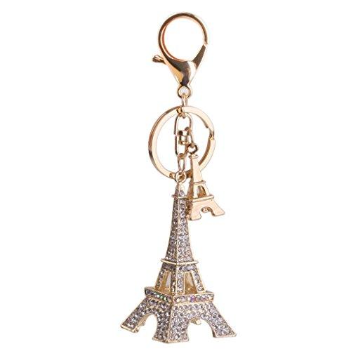 IU Desert Rose Hausbedarf Mini Eiffelturm Anhänger Karabinerverschluss Strass Schlüsselanhänger Geschenk Schlüsselanhänger Charm Decor (Gold) -