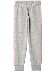adidas Yg 3S Slim Pant Pantalón, Niñas, Gris (Brgrin / Suabri), 140