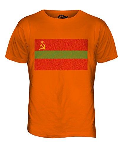 CandyMix Transnistrien Kritzelte Flagge Herren T Shirt Orange