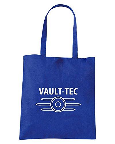 T-Shirtshock - Borsa Shopping FUN0267 11 10 2012 Vault Tec SHIRT det Blu Royal
