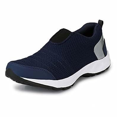 WoodBay Unisex Mesh Sports Shoes (10, Blue)