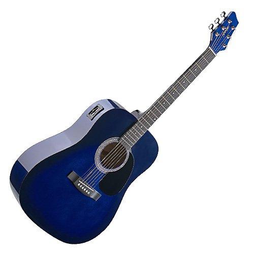 Stagg 25011943 SW201BLS-VT 2BEQ-Burst Elektro Akustik Western Gitarre blau