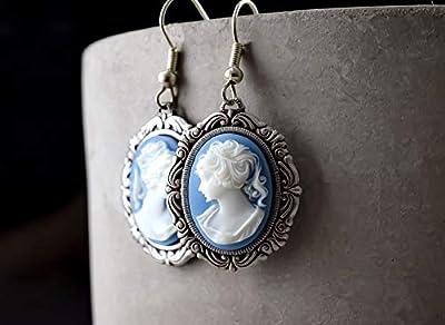 Boucles d'oreilles Camée Dame Baroque