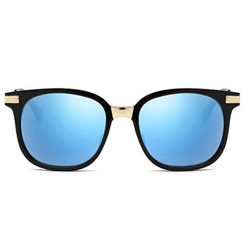 QHGstore Lunettes de soleil rétro Femmes Mode Métal Carré plastique Lunettes Oculos NO.1 NO.5
