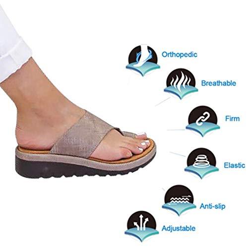 de2c8eab0658a Comfy Platform Sandalo Shoes Half-Sand Sandals,Summer Beach Travel Shoes  per Dita dei Piedi Protector Care, Alluce Valgo del Piede Imbottito per ...