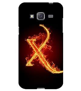 Chiraiyaa Designer Printed Premium Back Cover Case for Samsung Galaxy J3 (Alphabet X letter) (Multicolor)