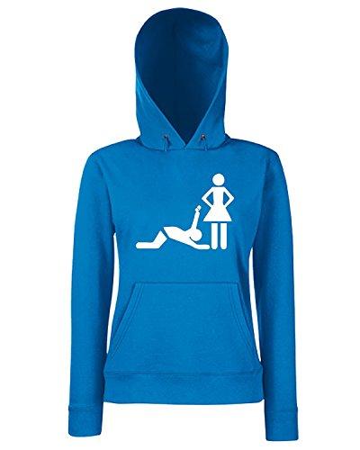 T-Shirtshock - Sweats a capuche Femme MAT0056 Marriage Maglietta Bleu Royal